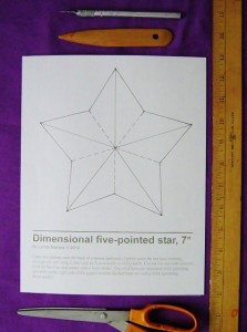 5 pointed star pattern