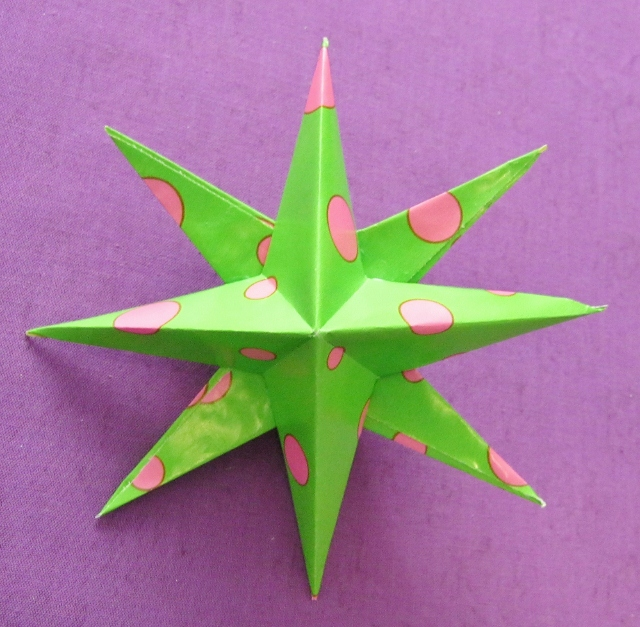 double sided 8 pointed paper star