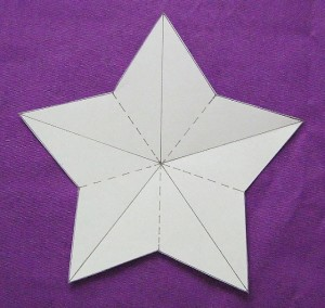 cut out 5 pointed paper star