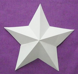 The finished dimensional five-pointed star