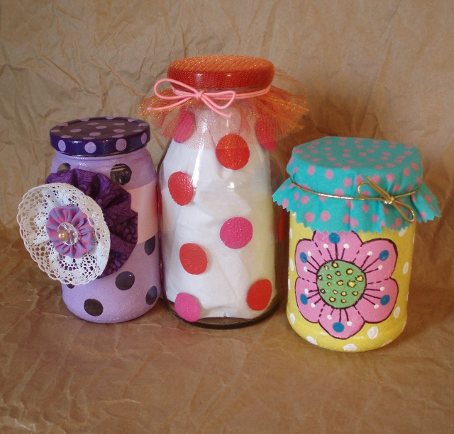 Simple glass painting ideas for recycled jars lynda makara for Easy glass painting designs