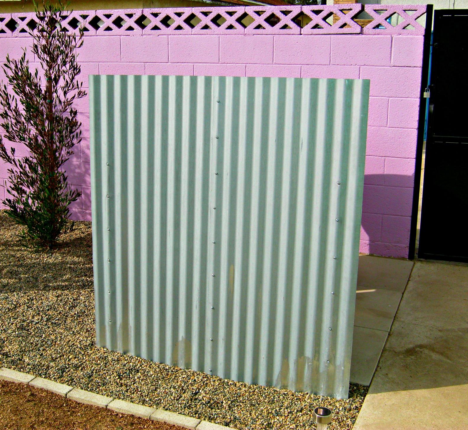 Diy garbage can fence lynda makara