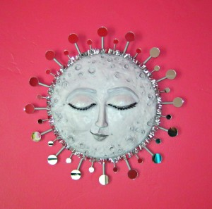 paperclay moon wall art