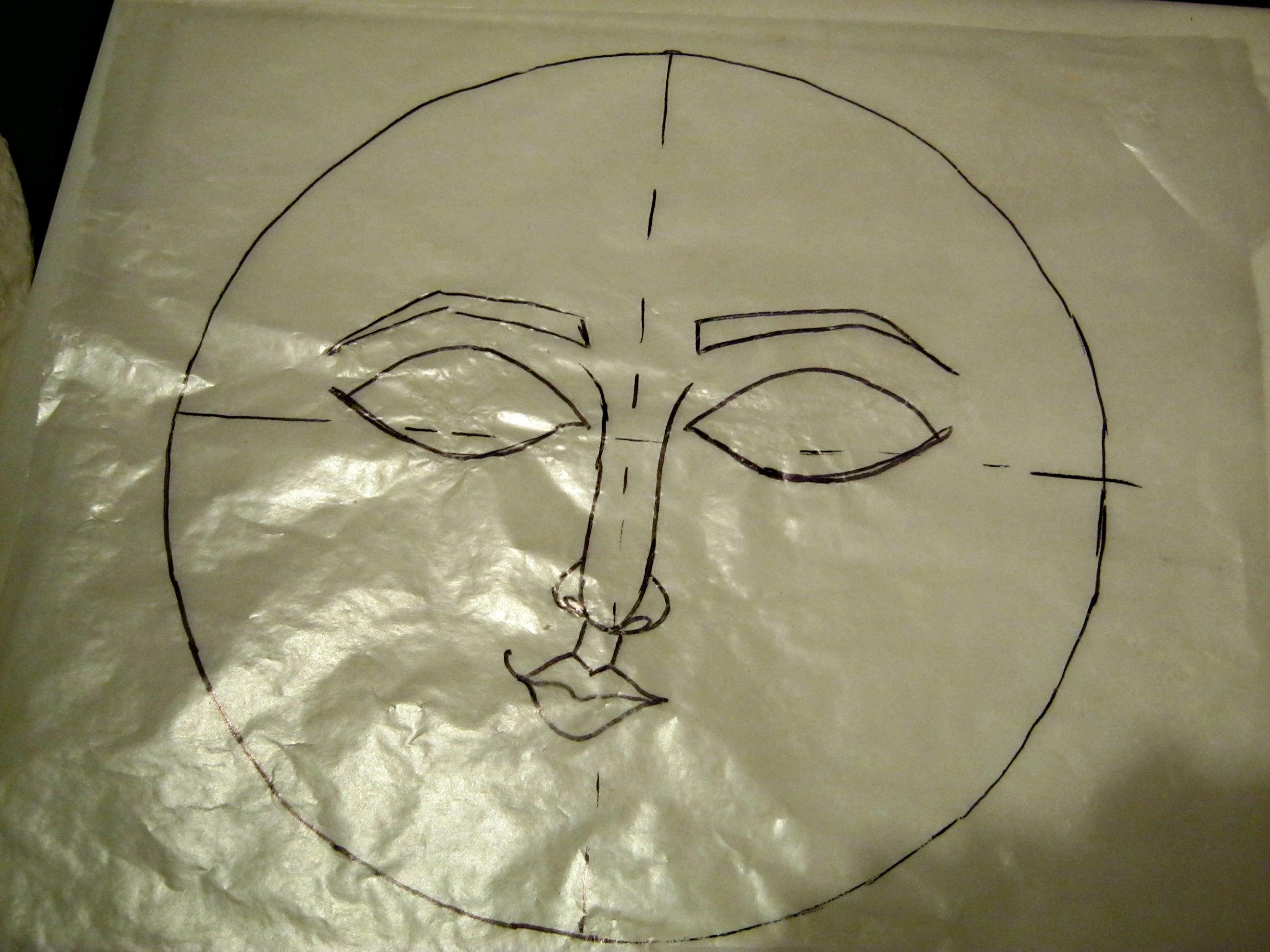 Moon Wall Art sleepy moon wall art paper clay tutorial - lynda makara
