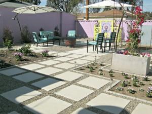 Beautiful Concrete Backyard Makeover