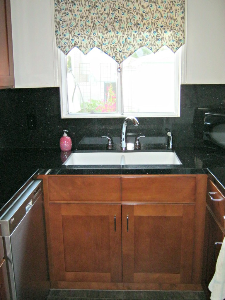 Galley kitchen upgrade sink lynda makara for Galley kitchen sink
