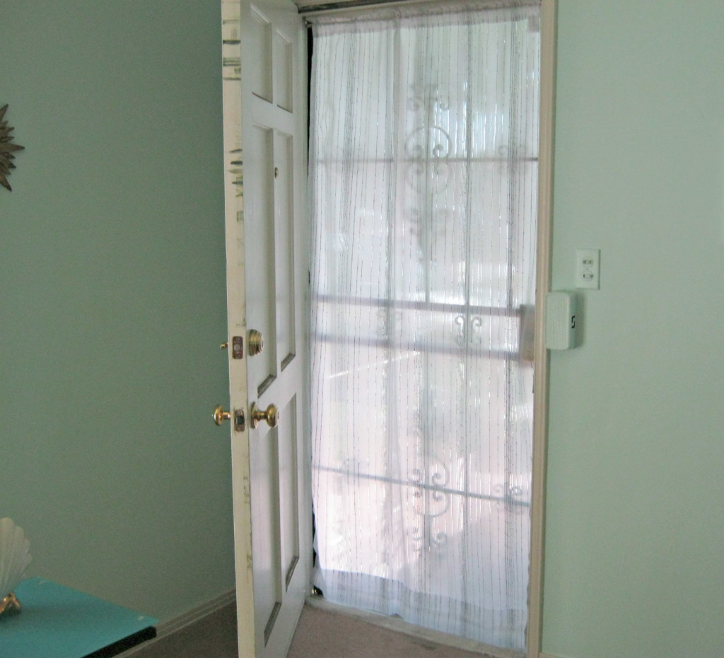 curtain for front doorFront door privacy curtain  Lynda Makara
