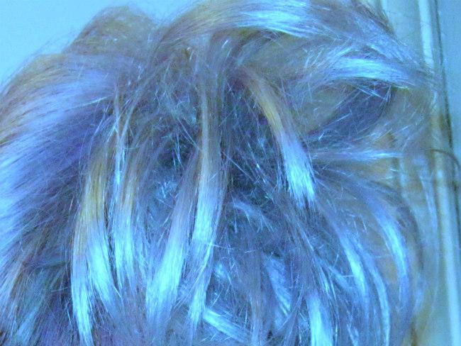after lavender toning